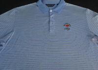Ralph Lauren Mens Golf Pullover Knit Short Sleeve Stripe Polo Shirt X Large XL