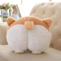 Novelty Corgi Bottom Warm Pillow Dog Buttocks Hand Cushion Plush Pillow Gift