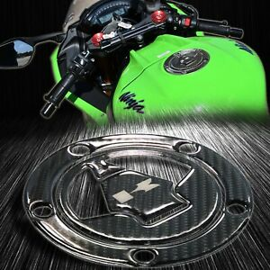 Real Carbon Fiber Gas Tank Fuel Cap Cover 07+Ninja ZXR/Versys 650/1000/Concours