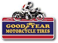 VINTAGE MOTORCYCLE TIRES RACING STICKER DECAL