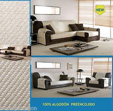 Practica funda  para sofa chaise longue de  algodón 1,2,3,4, plazas sofabezug