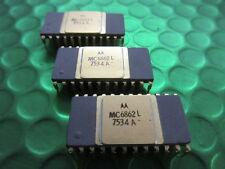 MC6862L ULTRA RARA Motorola IC dal anni'70, Viola in Ceramica Oro Top e gambe