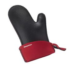 "Kitchen Grips 11"" Large Chef's Oven Mitt - Black / Red"