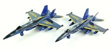 "US NAVY Blue Angels Lot of 2 9"" F/A18 Hornet Diecast Friction Models, Toys"