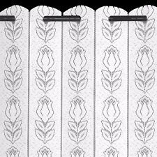 "Tulip Lace Net Curtain Louvre Blind Finished in White - 72"" Wide X 90"" Drop"