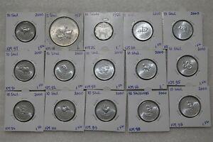 SOMALIA 15 COINS COLLECTION HIGH GRADE B38 POL24
