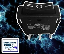 2x Black 3 Pin 3 Way On/Off/On Rocker Switch 16A 125VAC / 16A 250VAC