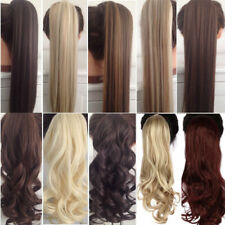 """Long 23"""" Curly Clip In Hair Tail False Hair Ponytail Hairpiece"""