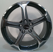 Audi TT 18 inch alloy wheels 5x112 machine face in grey set of 4 wheels
