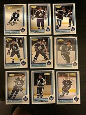 1986-87 O-Pee-Chee  TORONTO MAPLE LEAFS 9 card team  lot