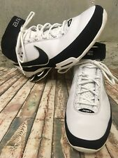 NIKE SHOX ELITE II TB Family 316904 101 White/Black-Metallic Silver Sz 13