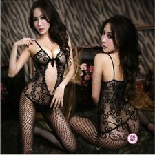 Sexy Lingerie Fishnet Bodystocking Crotchless Open Crotch Stocking Nightwear 068