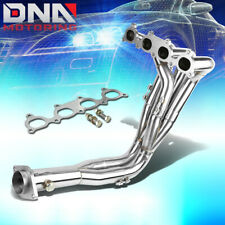 J2 FOR H23//BB2 STAINLESS EXHAUST MANIFOLD 4-2-1 HEADER+PURPLE WASHER CUP BOLT