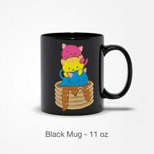 Kawaii Pansexual Mug for Cat Lovers Cute Aesthetic Pan Pride Cat Mug 11,15 Oz