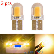 2pc T10 168 194 W5W COB Silica Gel Car LED Bulbs Lamp License Plate Light Yellow