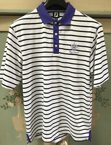 Men's Footjoy Golf Polo Top White  large From Trump National Bedminster USA