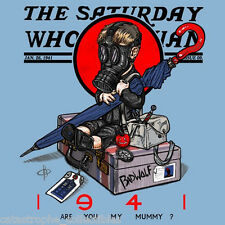 The Saturday Whovian DOCTOR WHO Evening Post Dr Rockwell XL NEW TEEFURY T-SHIRT!