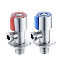 "304 Stainless Steel Bathroom Tap Kitchen Faucet Stop Valve 1/2"" Male Thread NEW"