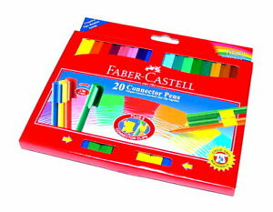Faber Castell Colour Markers Connector Pens Wallet 20 11200A PB491