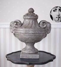 Gartenvase Antik Amphore Gartengefäss Widderköpfe Deckelvase Deckelamphore Vase
