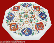 "12"" Marble Corner Table Top Handmade Inlay Pietra dura Home Decor & Gifts"