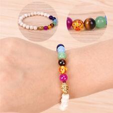 Natural Stone Buddha Bracelet 7 chakra Yoga Bracelet Women Men Bracelet WC