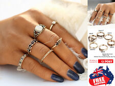 6pcs Retro Style Women's Boho Midi Finger Rings Set Stack Above Knuckle Jewelry