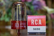 5690 Rca Vacío Tubo Rojo Base Negro Placas 1958 Nos Nuevo en Caja Rectificador