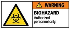 4 x - BIOHAZARD   - Warning Sign - Self Adhesive Waterproof Vinyl Stickers