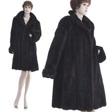 LKNW! Chic & Fashionable Real Female Dark Mahogany Mink Fur Inlay Design Coat