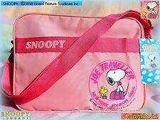 👜 VERO Vintage 80'S PEANUTS SNOOPY BORSA borsetta tracolla shoulder BAG luggage