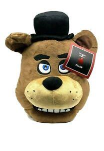 "Five Nights At Freddy's Freddy Fazbear Head Pillow Plush - New - Approx. 17"""