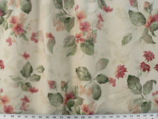 Drapery Upholstery Fabric Cotton Duck Muted Floral - Peach/Sage/Natural