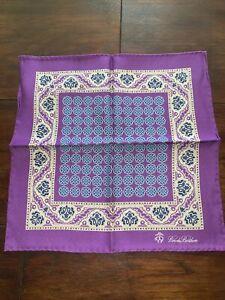 Brooks Brothers Purple Pocket Scarf REVERSIBLE Brand New RRP £65 100% Silk