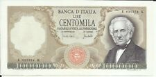 ITALIA ITALY 100000 100 000 LIRE 1970 P 100. XF-aUNC CONDITION. 6RW 06MAR