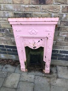 Victorian Cast Iron Fireplace. Small.