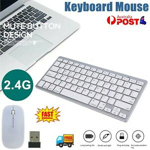 Mini Wireless Keyboard and Mouse Combo Set 2.4G Cordless Optical for PC & Laptop