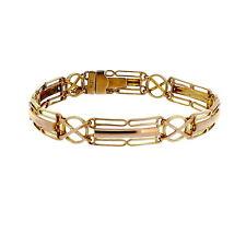 Arts and Crafts Antique Vintage 9ct Rose Gold Gate Bracelet Circa 1910