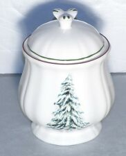 NEW Covered Sugar Bowl Filets Noel Pattern  From GIEN
