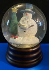 EDDIE BAUER HOME Snowman Holding Self in a SNOW GLOBE Decor Winter Christmas