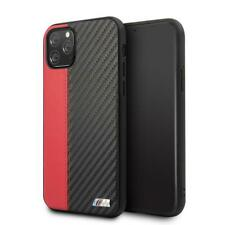 "BMW PU Leather Case iPhone 11 Pro Max Hard Case M"" Lines Contrast Stripe Red"