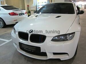 L STYLE CARBON FIBER HEADLIGHT EYELID COVER FOR 2008-2013 BMW E92 2DR COUPE & M3