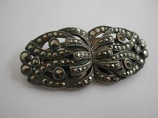 Fabulosa francés original Art Deco Doble Clip 1930 Broche Firmado Vestido Clips