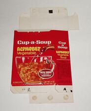 1978 Lipton Cup-A-Soup Box Alphabet Vegetable