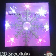 Tree Topper Snowflake/Star -LED Colour Changing Light Up Super Bright! **BNIB**