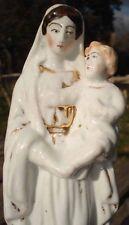-Vierge à l'Enfant XIX ème Porcelaine Polychromie Vieux Paris