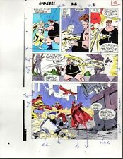 1980's Avengers 312 Marvel Comics color guide art page: 100's MORE IN OUR STORE