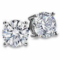 Sparkling White Sapphire Earrings - Sterling Silver - Satisfaction Guarantee!