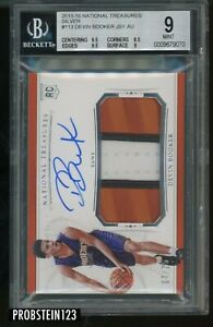 2015-16 National Treasures Silver Devin Booker RPA RC Patch AUTO /25 BGS 9 w/ 10
