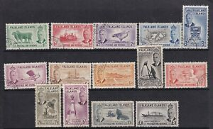 Falkland Islands 1952 Set of 14 SG172-185 - good to fine used